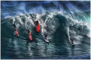 IUP Gold Medal - Thomas Lang (USA) <br /> Hawaii Surfers